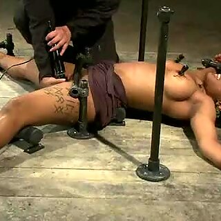 See Mia all tied up and horny, just to please her man and you!