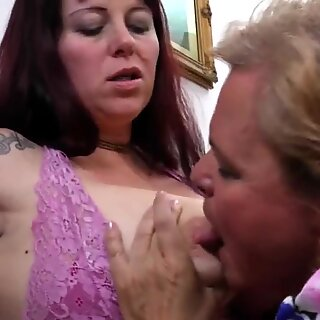 Four horny old and young lesbians make it special