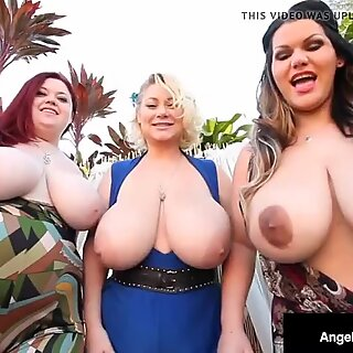 Angelina Castro, Sam 38G & Trinity Guess have big tits and share a dick!