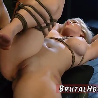 Bdsm bondage gangbang first time Big-breasted light-haired sweetie Cristi Ann is on