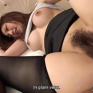 Slutty babe in stockings gets fucked by dudes