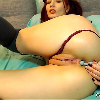 Close Up Fucking With Big Dildo And Anal Teaser