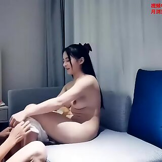 Chinese Prostitution Series, Chubby young whore moans loudly