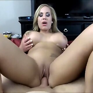 Watch This Hot Milf Ride Her Lucky Neighbor All Day! She has Great Tits!
