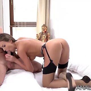 MILF Tina Kay in stockings has her ass fucked hard