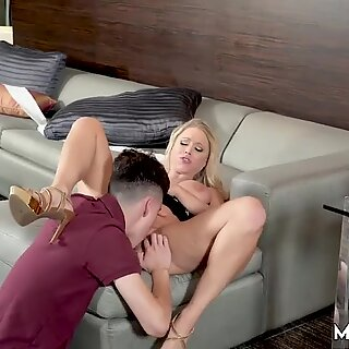 Blonde milf double penetration in hd Horny Step Mom Gets Slammed