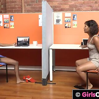 GirlsOutWest - Exotic babes lick each others hairy pussy