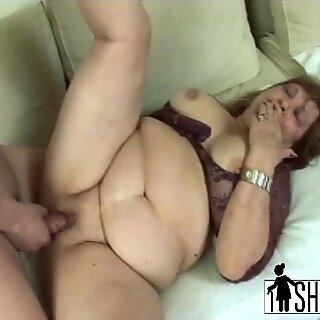 BBW granny having affair with son in law