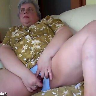 OldNanny Pretty girl and fat granny masturbating together