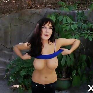 Lovely beauty Diana Prince in erotic scene