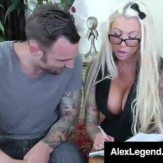 Fat Dick Alex Legend Face Fucks Big Titty Babe Lolly Ink!