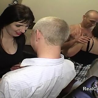 Swingers share wives with dp and anal sex