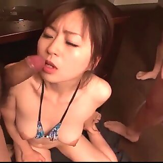 Nozomi Hatsuki lands the best inches in her tiny holes - More at Slurpjp.com