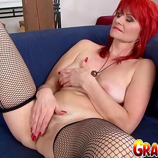 Granny Vs BBC - Redhead Amanda Rose
