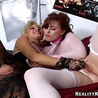 Sexy MILF Alexandra Ivy gets off on sucking her friend's nipples.