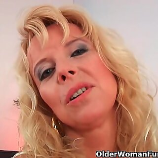 lustful grannie gets poked by hard cock