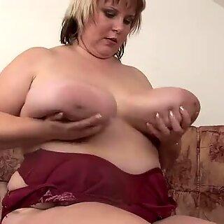 Fat and horny milf Juliana has jugs like a gallon of milk