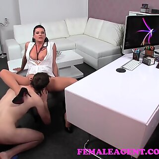 FemaleAgent. cougar left unsatisfied with audition and wants camerman's spunk