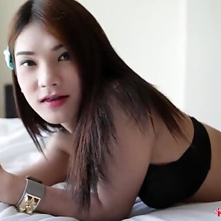 HELLOLADYBOY Skinny Asian Ladyboy Is Obsessed With Tourist Cock