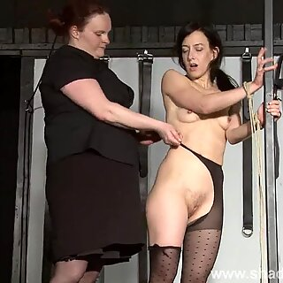 tough lezzie domination of slaveslut Elise Graves in hardcore bdsm punish