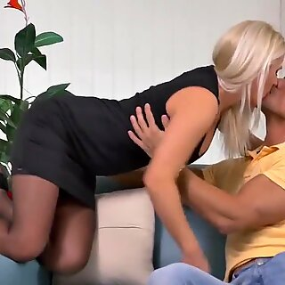 Taboo home hookup with warm mother Kathy Anderson