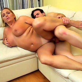 Big beautiful mother suck and fuck lucky son